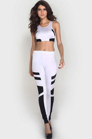 White Matching Two Piece Club Pant Set - Boldgal.com