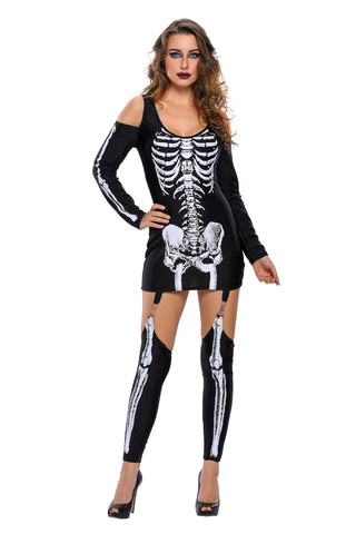 Black Skeleton Halloween Costume