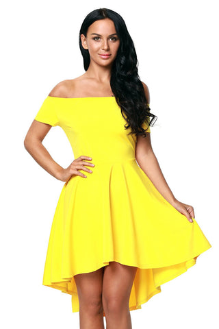 Yellow Rage Short Sleeves Dress