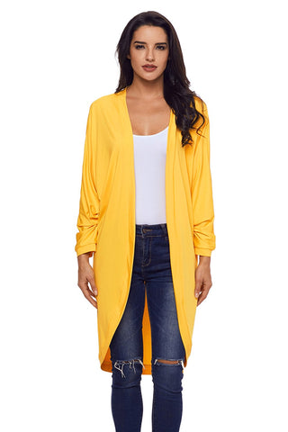 Yellow Long Fit Relaxed Cardigan