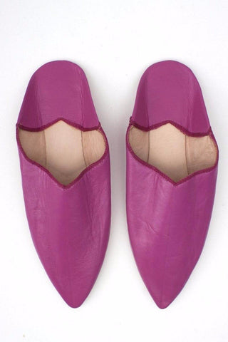 Leather Babouche- Fushia size 8.5-9