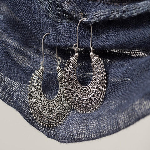 Antique Silver Tribal Earrings