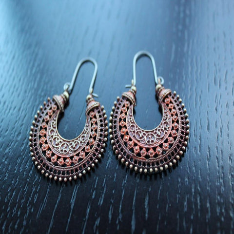 Antique Bohemian Zanzibar Tribal Bohemian Earrings