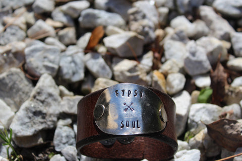 Gypsy Soul Leather Cuff