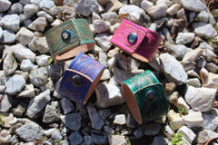 Be Uncommon Collection- Bright Color Leather Cuffs
