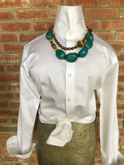 World Finds-One of a Kind - Sky Blue Tagua Nut Necklace