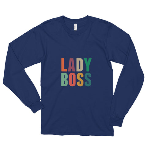 Lady Boss- Long sleeve t-shirt - Blue/ White/ Black
