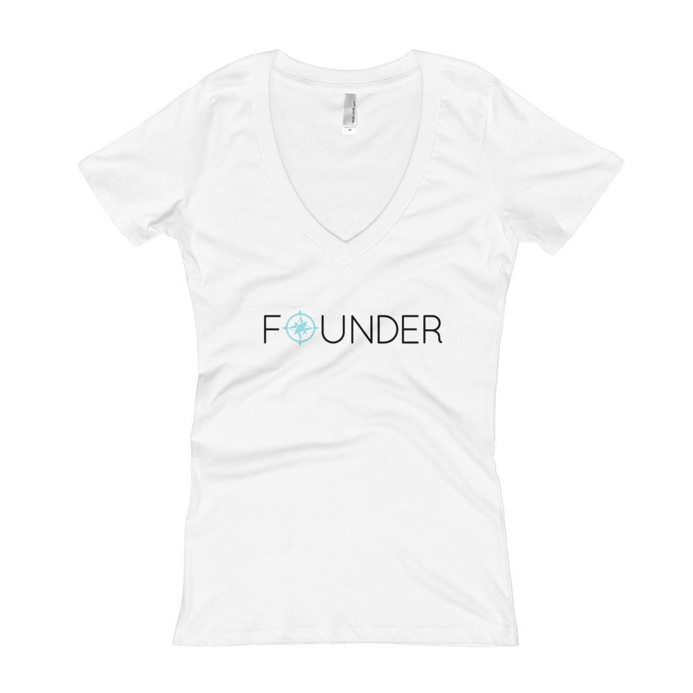 Founder- I am...Asi Soy - Women's V-Neck T-shirt