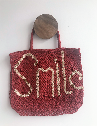 Ultra Chic Leather Circular Bag - Red Sequin
