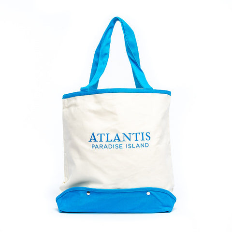 Cotton Beach Tote with Mesh Bottom - Shop Atlantis Bahamas