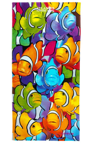 "Clownfish Beach Towel 30"" x 60"" - Shop Atlantis Bahamas"