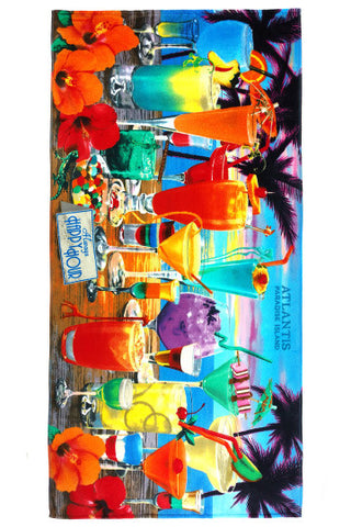 "Happy Hour Beach Towel 30"" x 60"" - Shop Atlantis Bahamas"