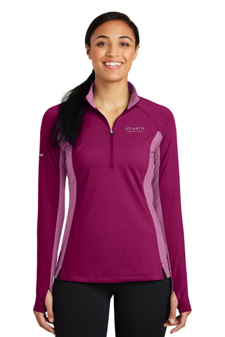 Ladies Atlantis Strech Contrast 1/2 Zip Pullover - Shop Atlantis Bahamas