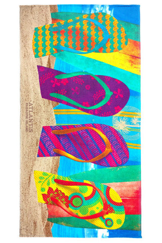 "Flip Flops Beach Towel 30"" x 60"" - Shop Atlantis Bahamas"