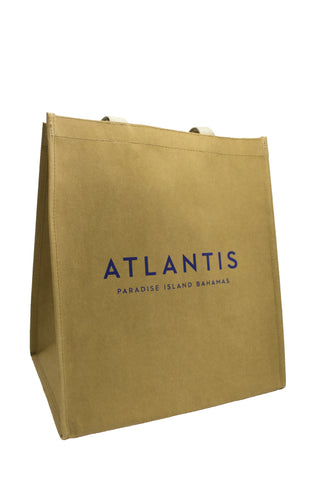 Washable Kraft Paper Tote Bag: Atlantis Bahamas - 13 x 10 x 15 - Shop Atlantis Bahamas