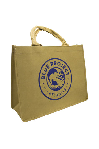 Washable Kraft Paper Tote Bag Blue Project: 16 x 6 x 12 - Shop Atlantis Bahamas