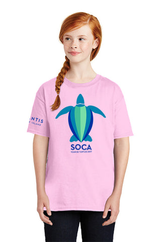 Girls Youth 100% Cotton T-Shirt - SOCA: Tour de Turtles - Shop Atlantis Bahamas