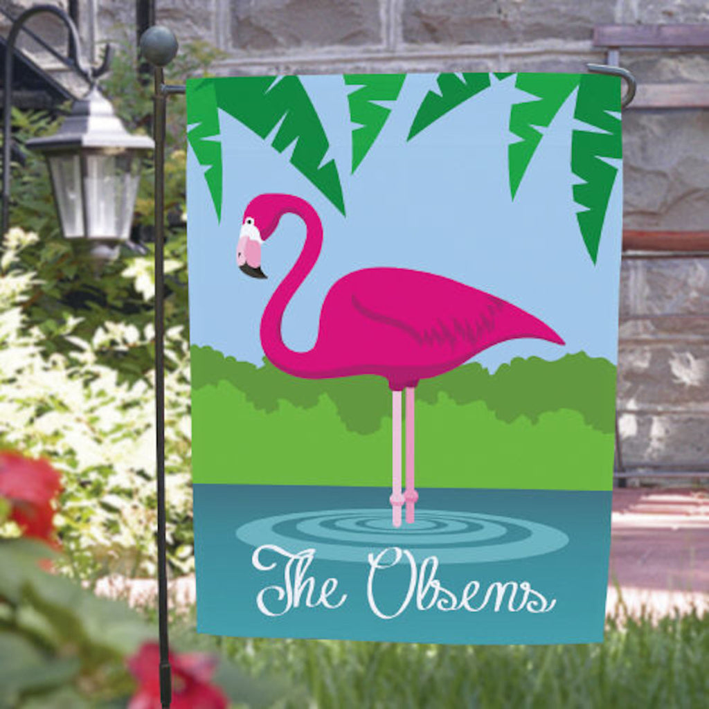 Personalized Pink Flamingo Garden Flag Great Gifts Here