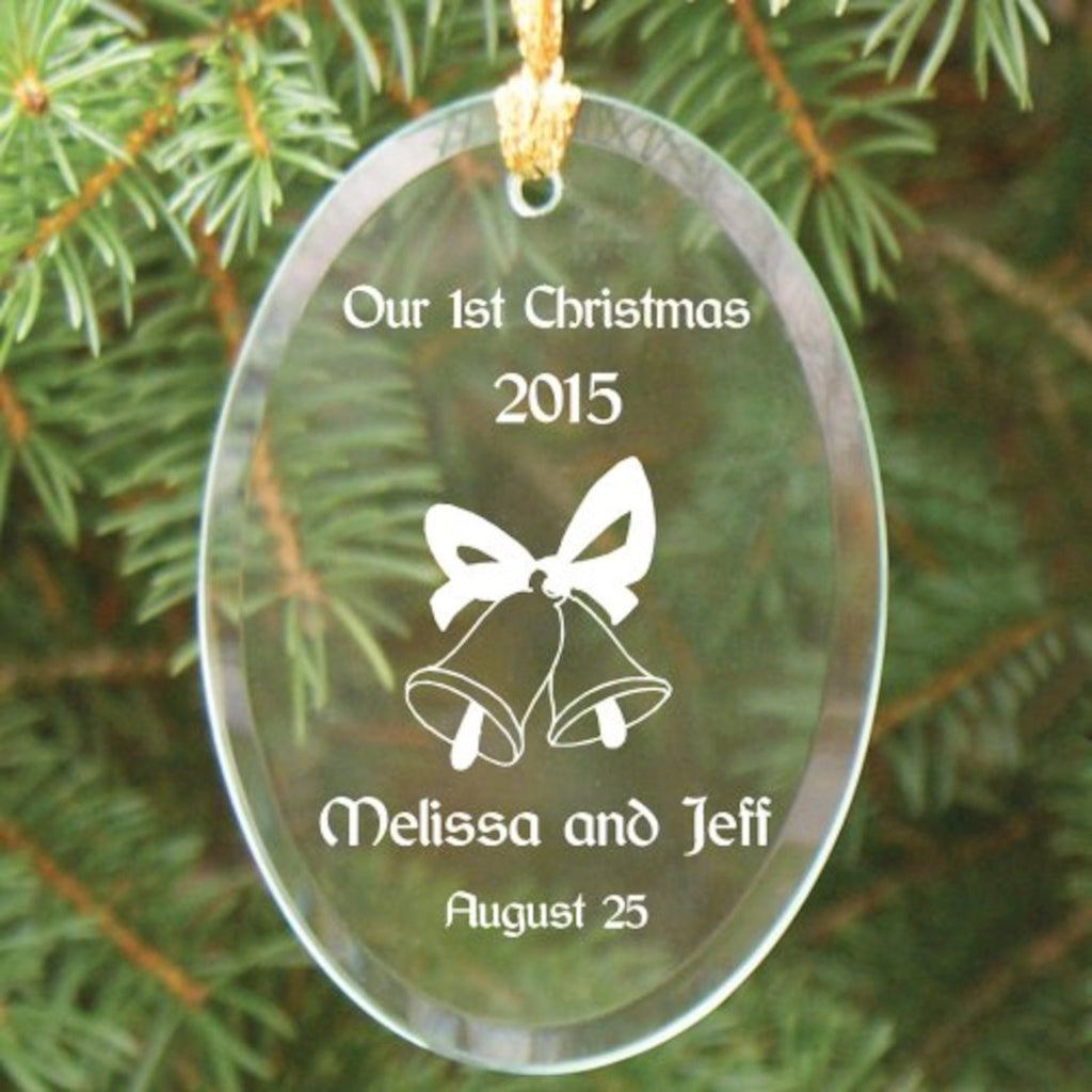 Personalized couples christmas ornaments - Personalized Couples First Christmas Ornament