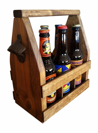 Handmade Beer Tote, Beer Caddy