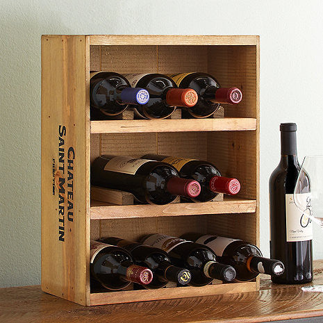 Wine Crate Rack 12 Bottles