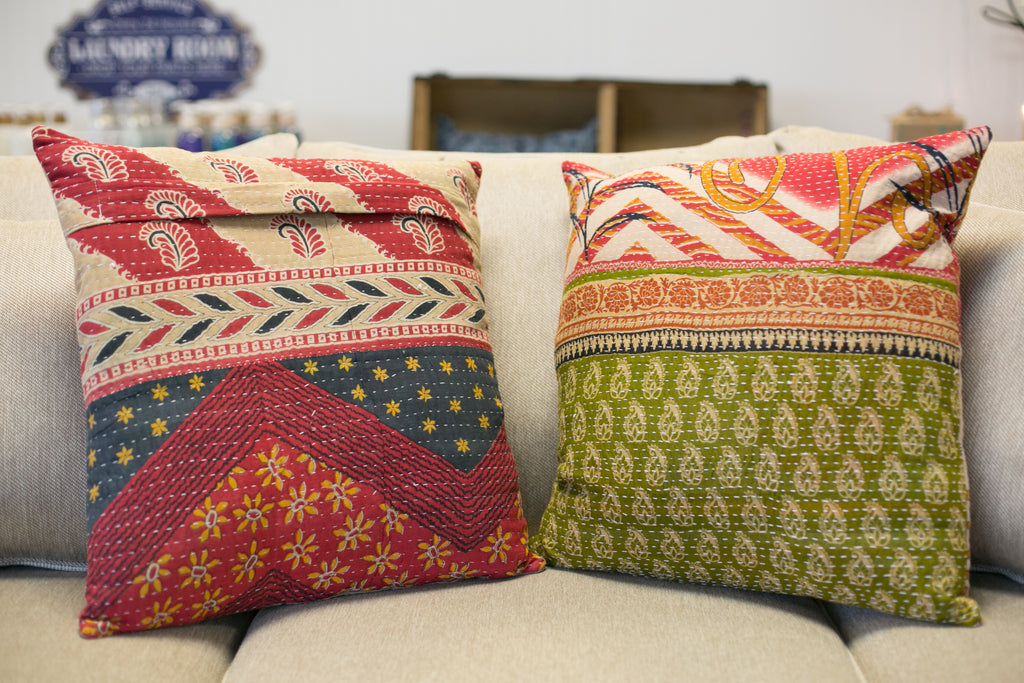 Boho Quilted Pillow