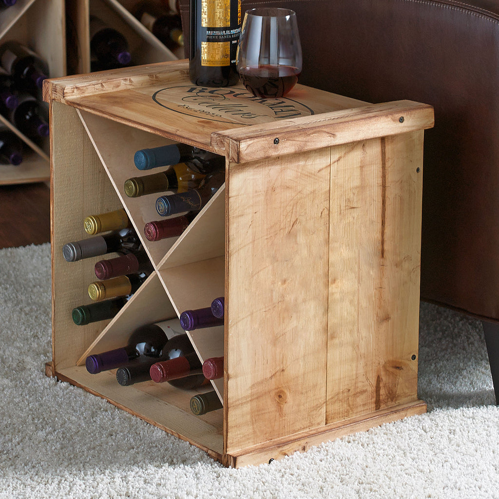 Personalized Reclaimed Wood Wine Rack X Style