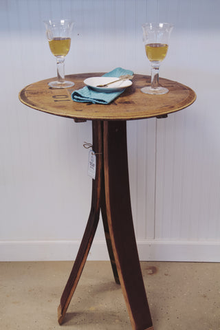 Wine Barrel Bistro Table