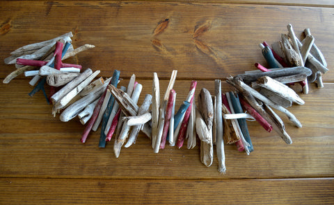 Lake Michigan Driftwood Garland in Red, White & Blue