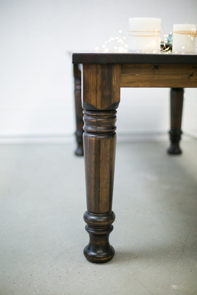 ... Distressed Pine Farmhouse Plank Table ...