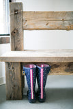 Hand Hewn Barn Beam Bench