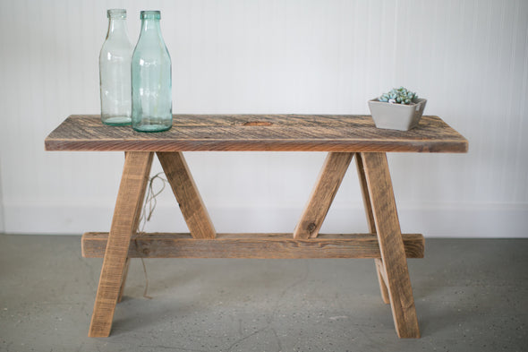 Barn Wood Saw Horse Bench
