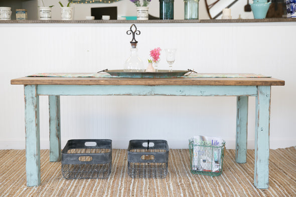 Farmhouse Table with Cottage Green Legs