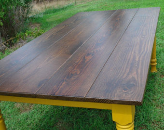 Heidi W. Custom Farmhouse Table and Bench