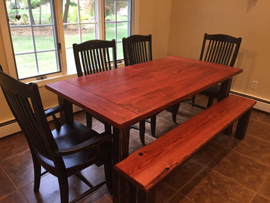 Kelsea B. Custom Farmhouse Table