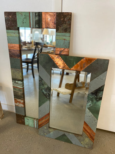 Assortment of NYC Copper Patch Mirrors