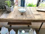 Reclaimed Barn Wood Console Table With Pipe Legs