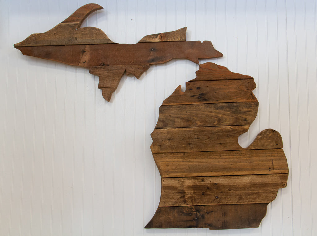 Reclaimed Wood Michigan Wall Art