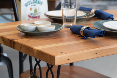Reclaimed Wood Sewing Machine Base Dinette Table