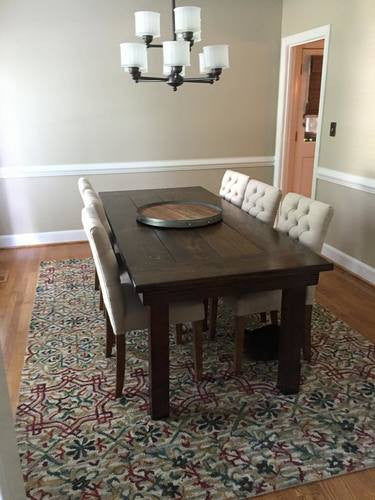 Kirsten Custom Handcrafted Harvest Table and Bench