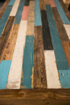 Painted Slat Farmhouse Table