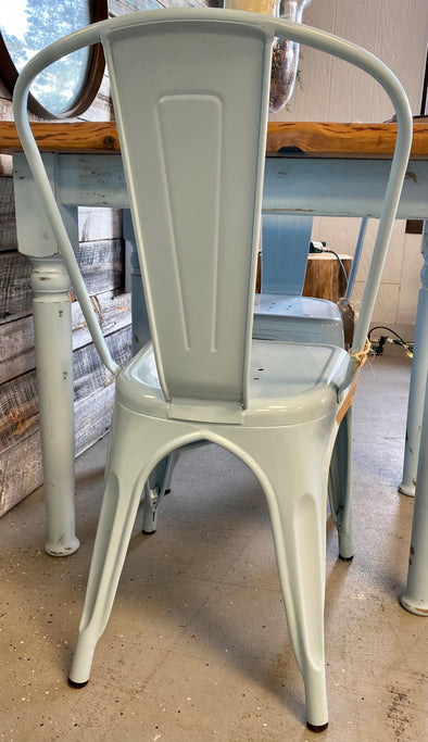 Powder Blue Metal Chair