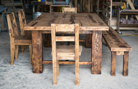 Rustic Primitive Table Dining Set