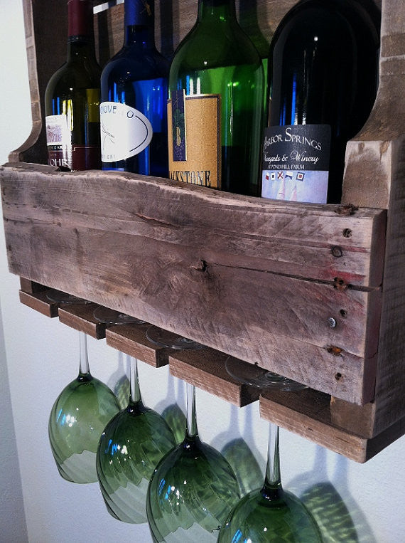 Little Traverse Wine Rack For Small Spaces Great Lakes Reclaimed