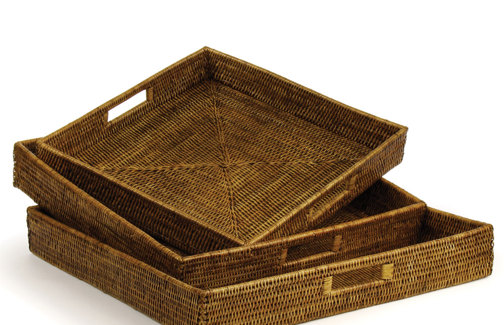Brown Woven Rattan Baskets
