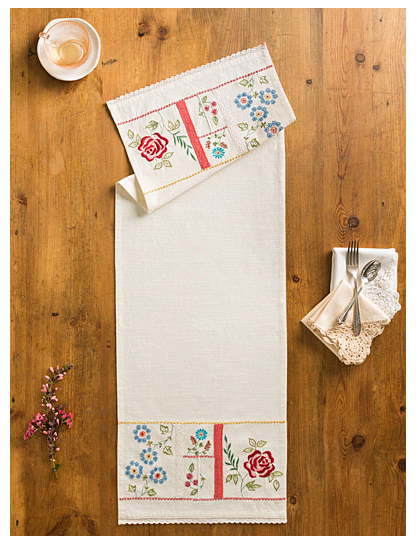 April Cornell Embroidered Table Runner