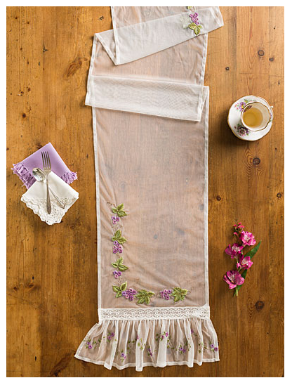 April Cornell Sheer Embroidered Table Runner