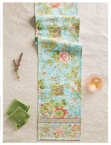 April Cornell Tea Rose Table Runner
