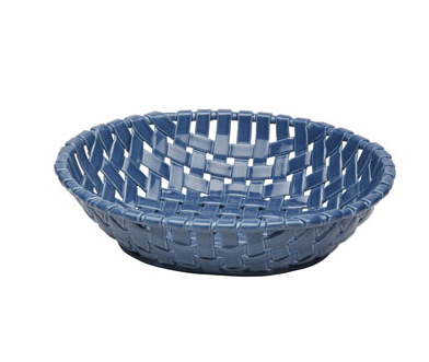 Casafina Large Oval Blue Woven Basket