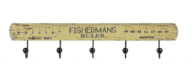 """Fisherman's Ruler"" Wall Decor With Hooks"